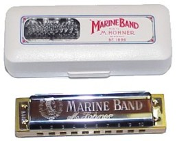 Hohner 1896 Marine Band Harmonica, Key of Low-E