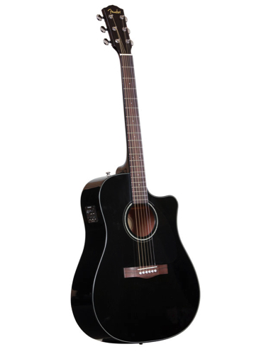 fender cd60ce black acoustic guitar with hardshell case pro music. Black Bedroom Furniture Sets. Home Design Ideas