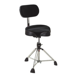 Gibraltar 9608MB Drum Throne, Motorcycle Style Cordura Seat With Back