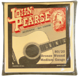John Pearse 300M Bronze Medium Acoustic Guitar Strings
