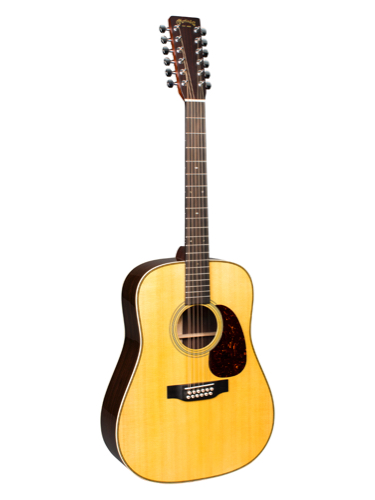Martin HD12-28 Acoustic Guitar With Gold Plus Thinline Pickup