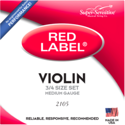 Red Label 2105 3/4 Violin Strings
