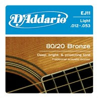 D'Addario EJ11 Light Bronze Acoustic Guitar Strings