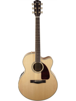 Fender CJ-290SCE Jumbo Acoustic-Electric Guitar With Hardshell Case