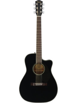 Fender CC-60SCE Black Solid Top Acoustic-Electric Guitar