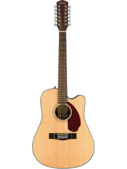 Fender CD-140SCE 12 String Natural Solid Top Acoustic-Electric Guitar With Hardshell Case