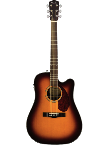 Fender CD-140SCE Sunburst Solid Top Acoustic-Electric Guitar With Hardshell Case