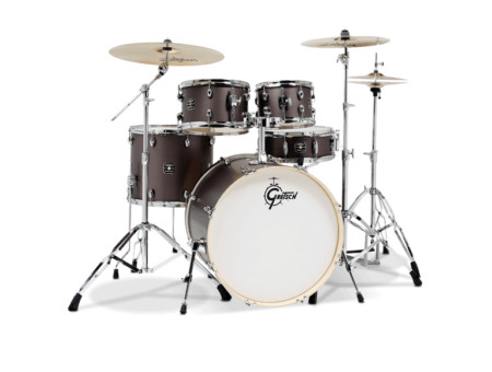 Gretsch GE4E825ZG Energy 5 Piece Brushed Grey Drum Set