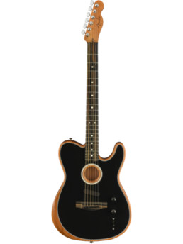 Fender American Acoustasonic Telecaster Black With Gig Bag