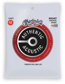 Martin MA540T Phosphor Bronze Light Acoustic Guitar Strings